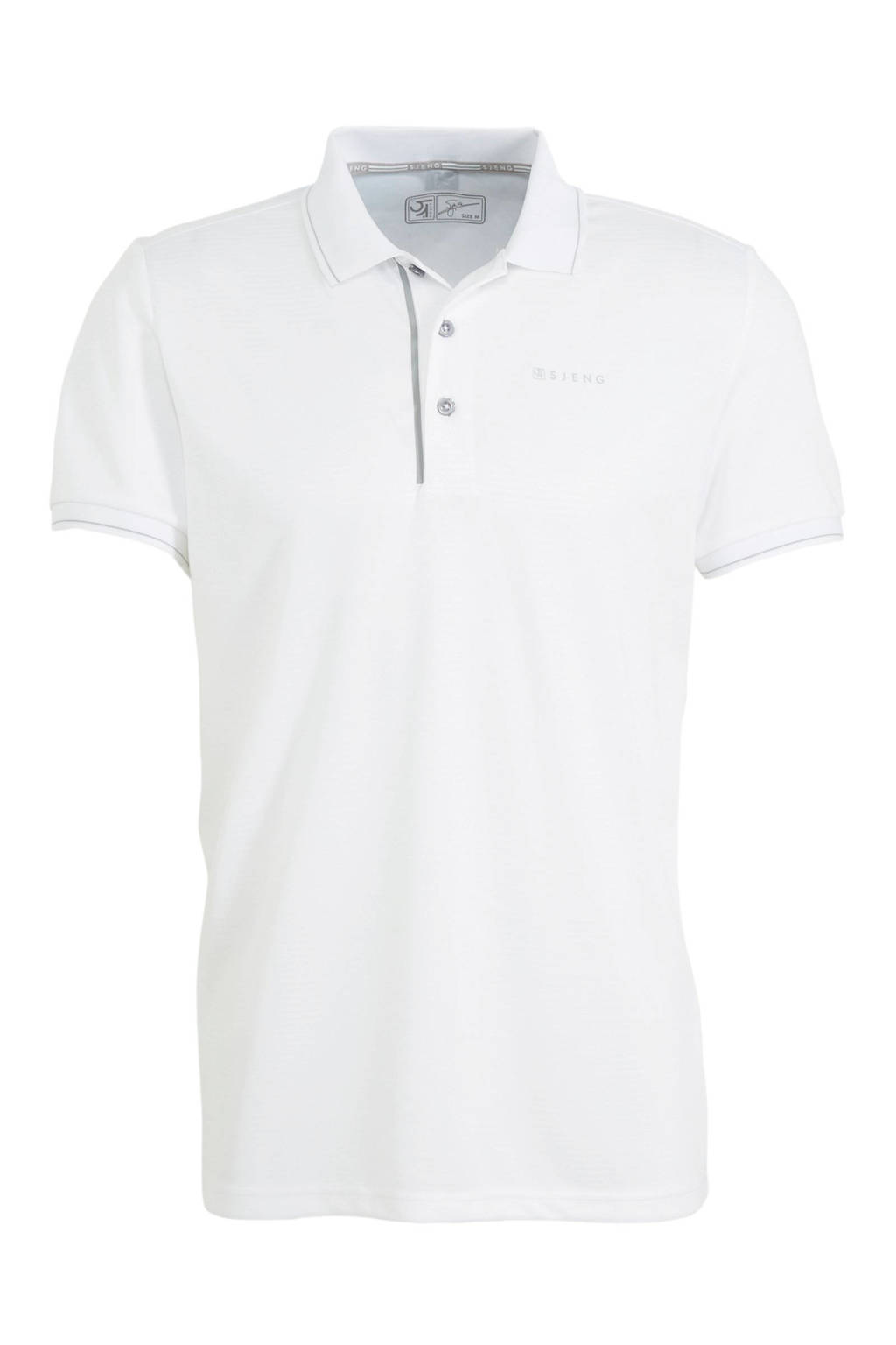 Sjeng Sports   polo Grand wit, Wit