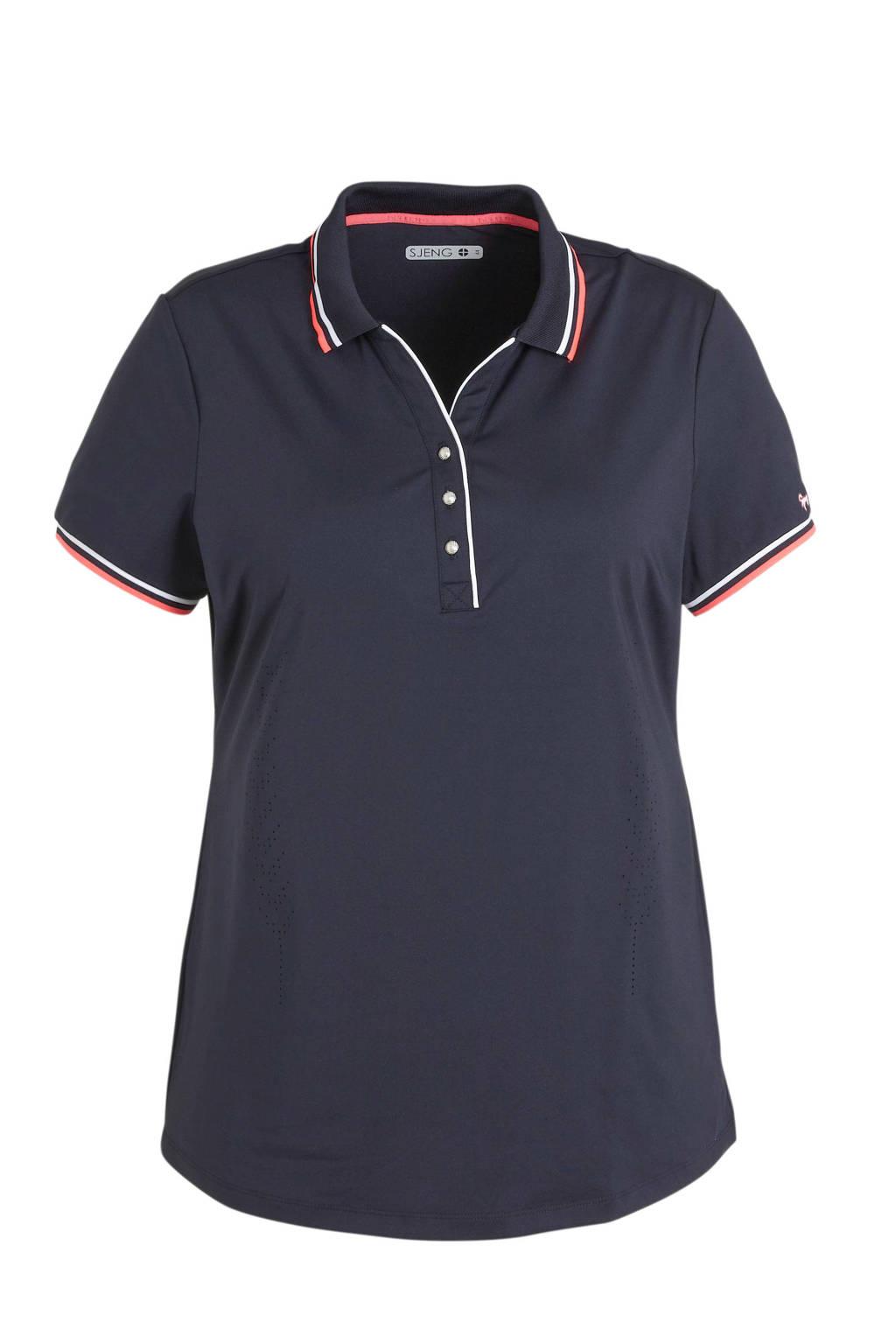 Sjeng Sports polo Robin Plus donkerblauw, Donkerblauw