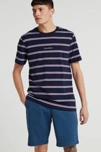Scotch & Soda gestreept T-shirt donkerblauw, Donkerblauw