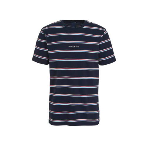 Scotch & Soda gestreept T-shirt donkerblauw