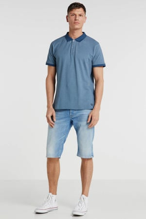 slim fit polo met all over print marine