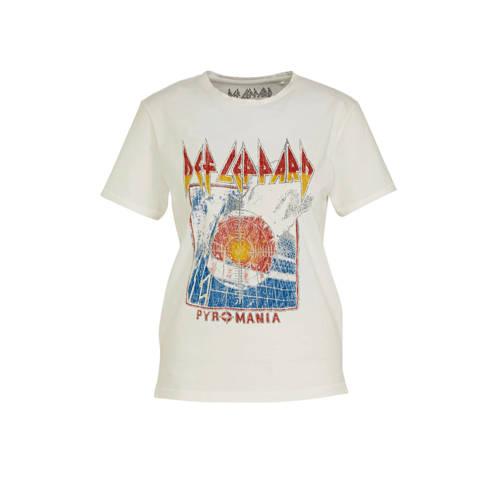 ONLY T-shirt met printopdruk wit