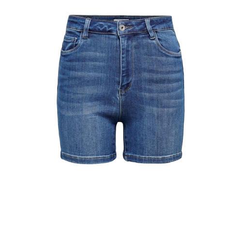 ONLY high waist jeans short blauw