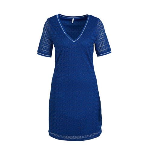 ONLY jurk met contrastbies en contrastbies blauw