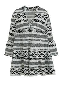 ONLY jurk Lucca met all over print wit/zwart, Wit/zwart