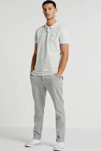 Tommy Jeans slim fit polo wit, Wit