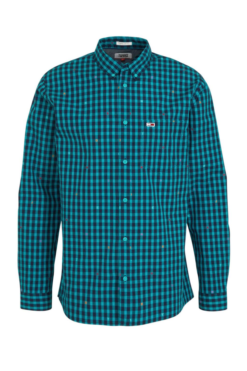 Tommy Jeans slim fit overhemd van biologisch katoen blauw, Blauw