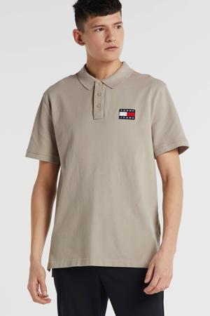 regular fit polo met logo beige