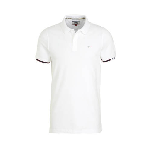 Tommy Jeans slim fit polo wit