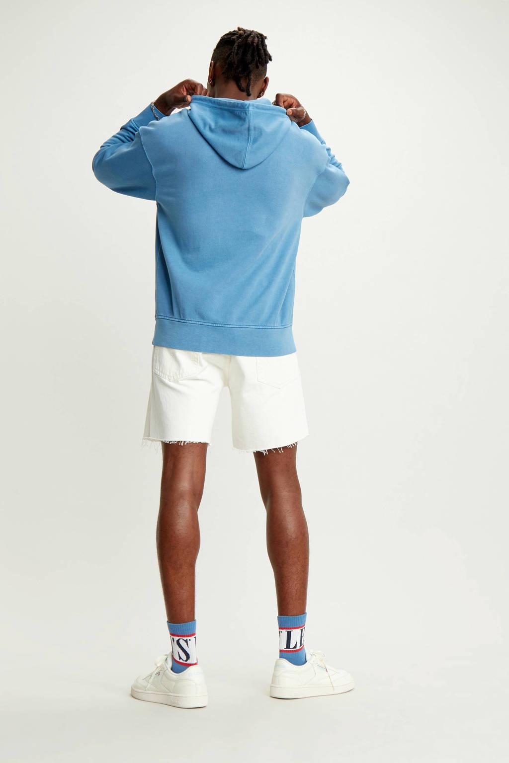Levi's gemêleerde hoodie lichtblauw, Lichtblauw