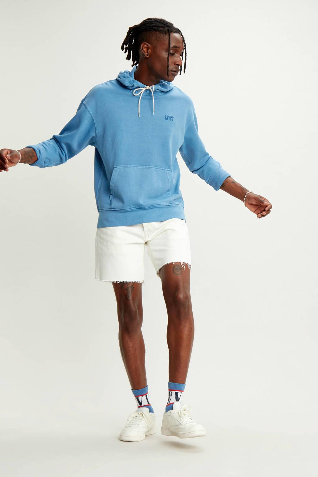 Levi's gemêleerde hoodie relaxed fit lichtblauw, Lichtblauw