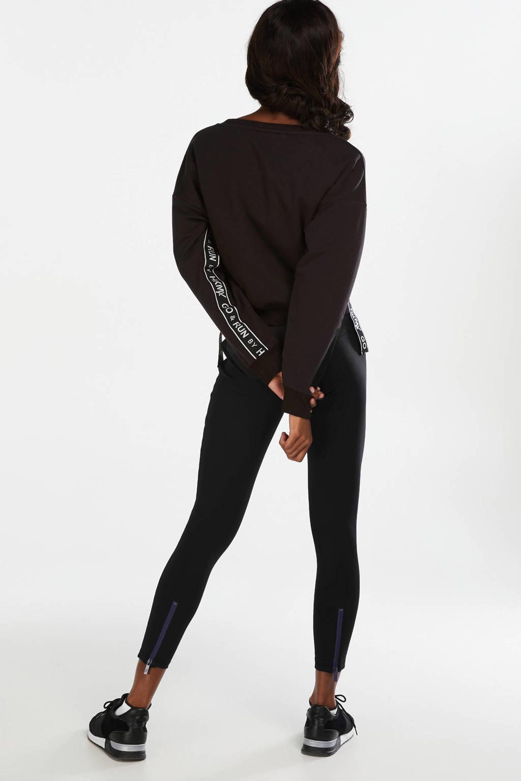 Hunkemöller cropped sportsweater zwart, Zwart