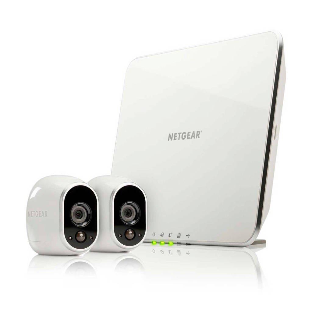 Arlo VMS3230 Duo Pack beveiligingscamera, Wit