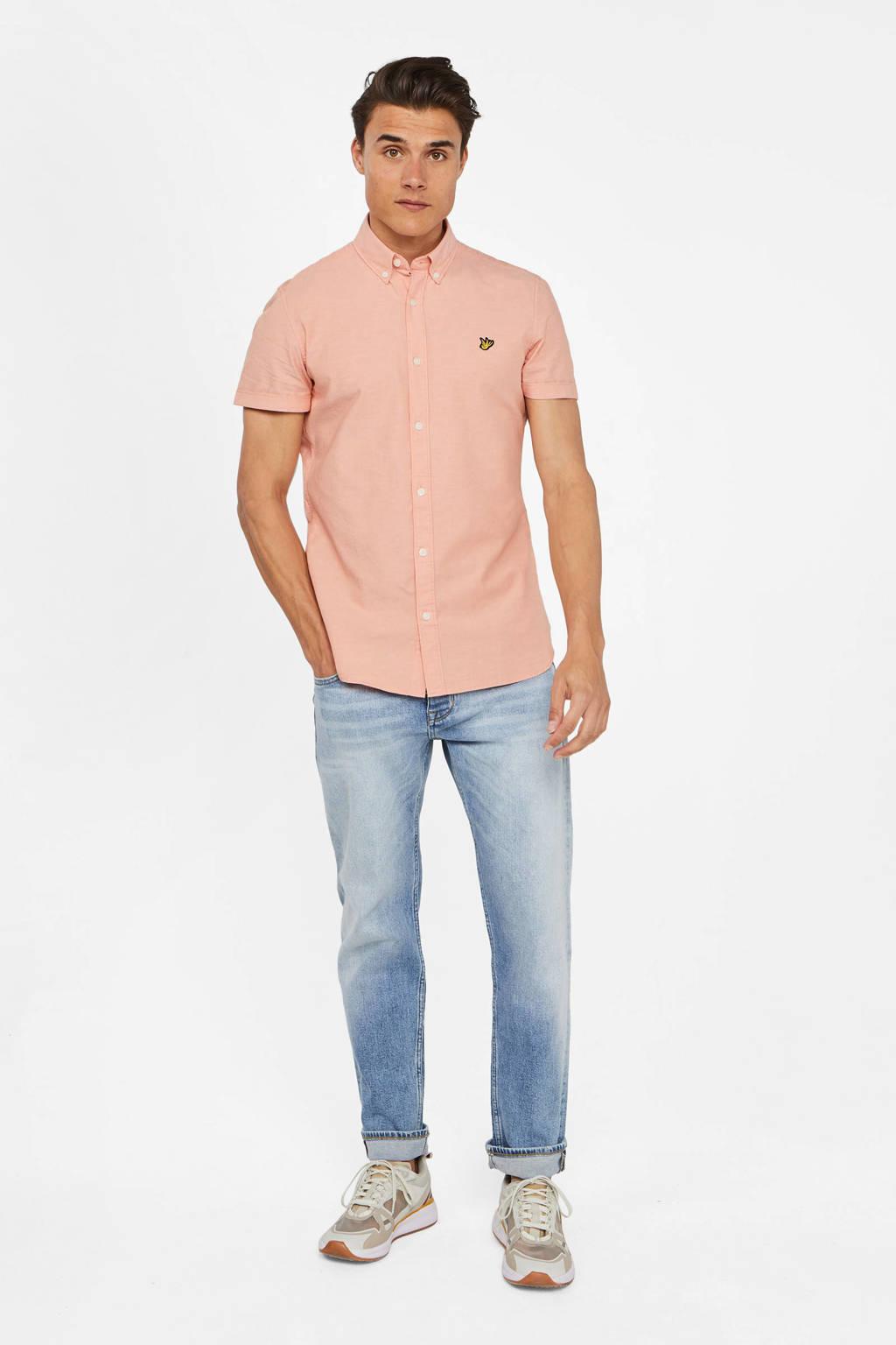 WE Fashion slim fit overhemd zalm, Zalm