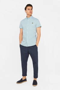 WE Fashion slim fit overhemd lichtgroen, Lichtgroen