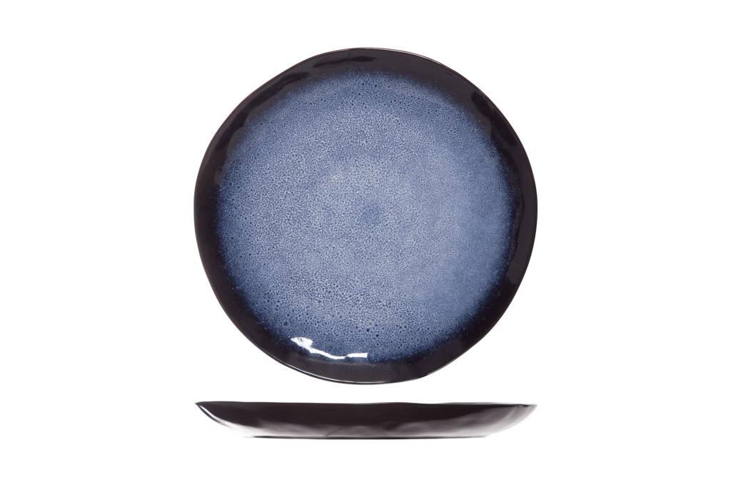 Cosy & Trendy dinerbord Sapphire (Ø27 cm), Zwart,blauw