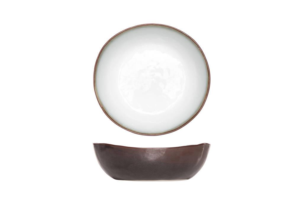 Cosy & Trendy schaal Plato (Ø20.5 cm), Bruin,Wit