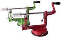 Easyline appelschilmachine aluminium met zuignap, Rood,Groen
