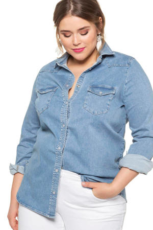 blouse blouse lichtblauw