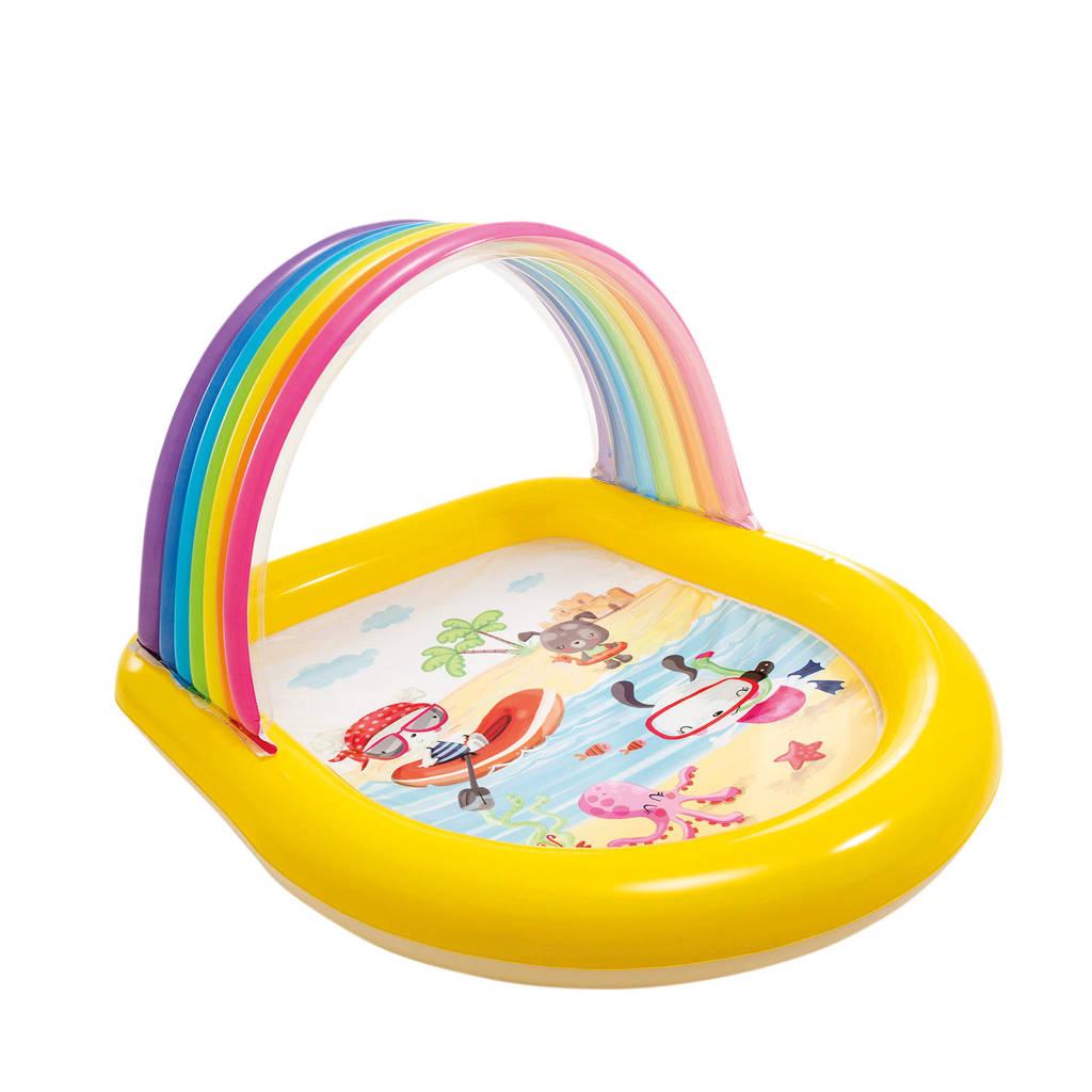 Intex Regenboog zwembad met sproeier 147x130x86cm