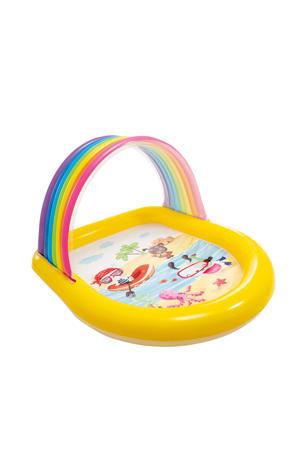 Regenboog zwembad met sproeier 147x130x86cm