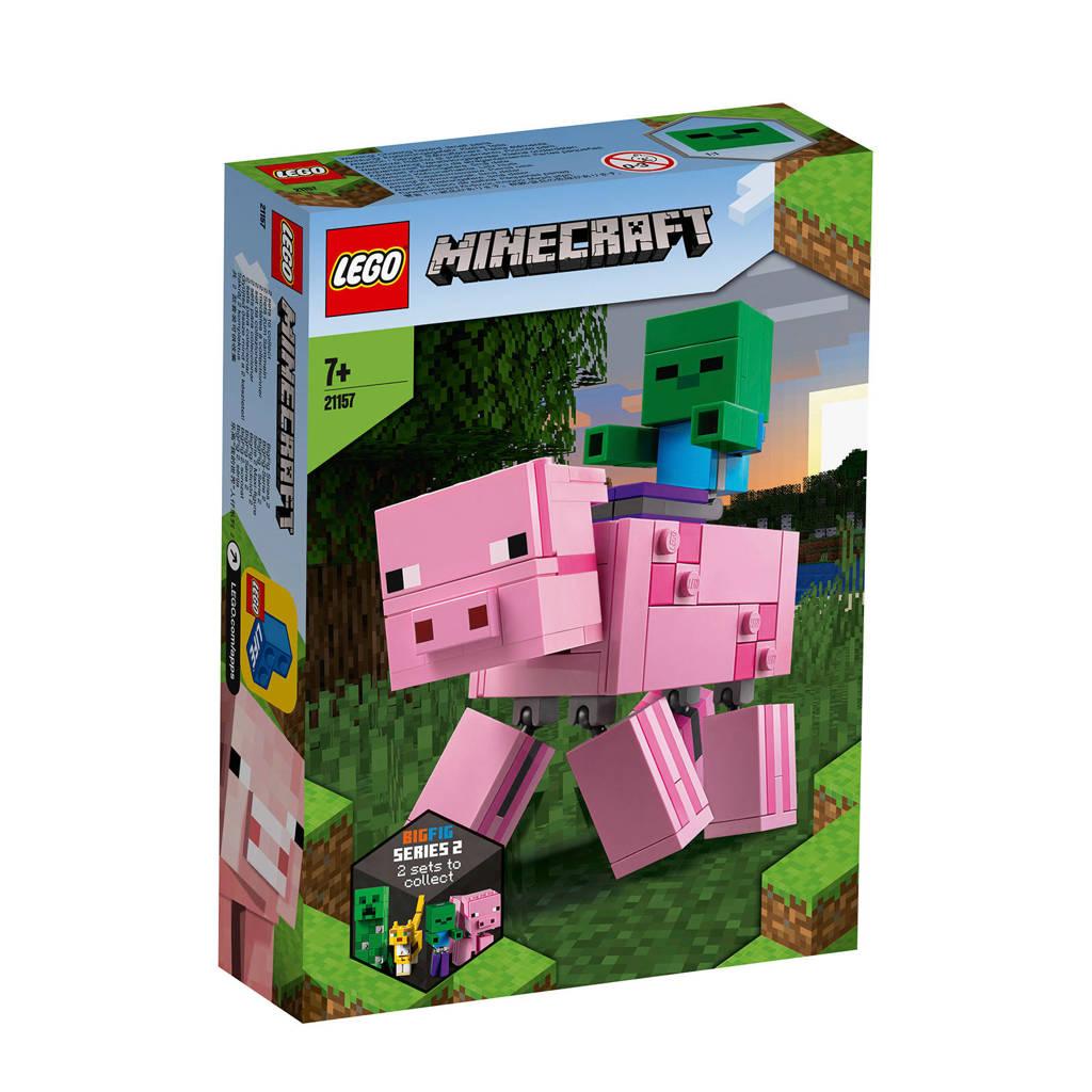 LEGO Minecraft BigFig varken met zombiebaby 21157