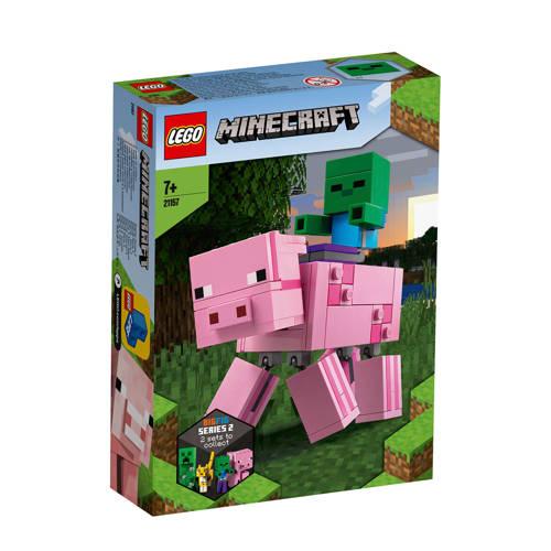 LEGO Minecraft BigFig varken met zombiebaby