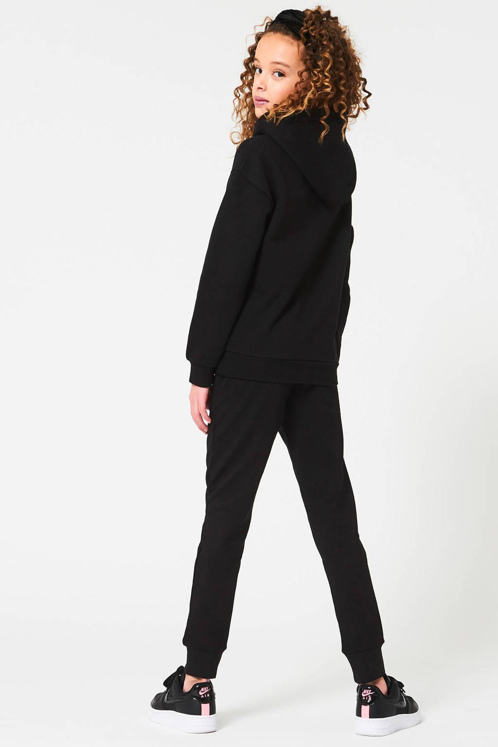 CoolCat Junior hoodie Sofie met tekst zwart, Zwart