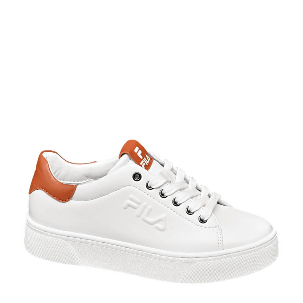 Fila   plateau sneakers wit/bruin, Wit/bruin