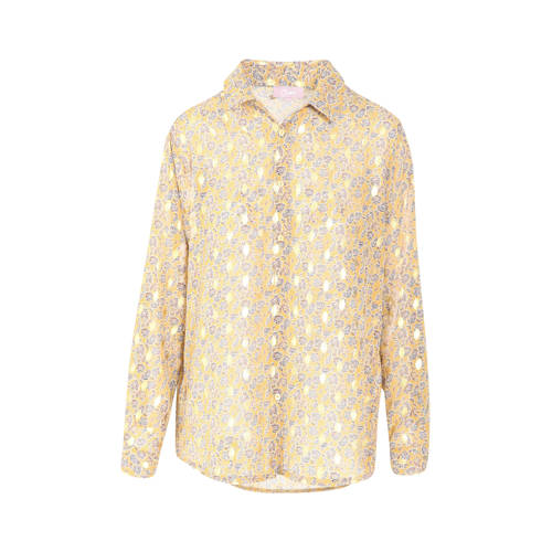 Cassis semi-transparante blouse met all over print