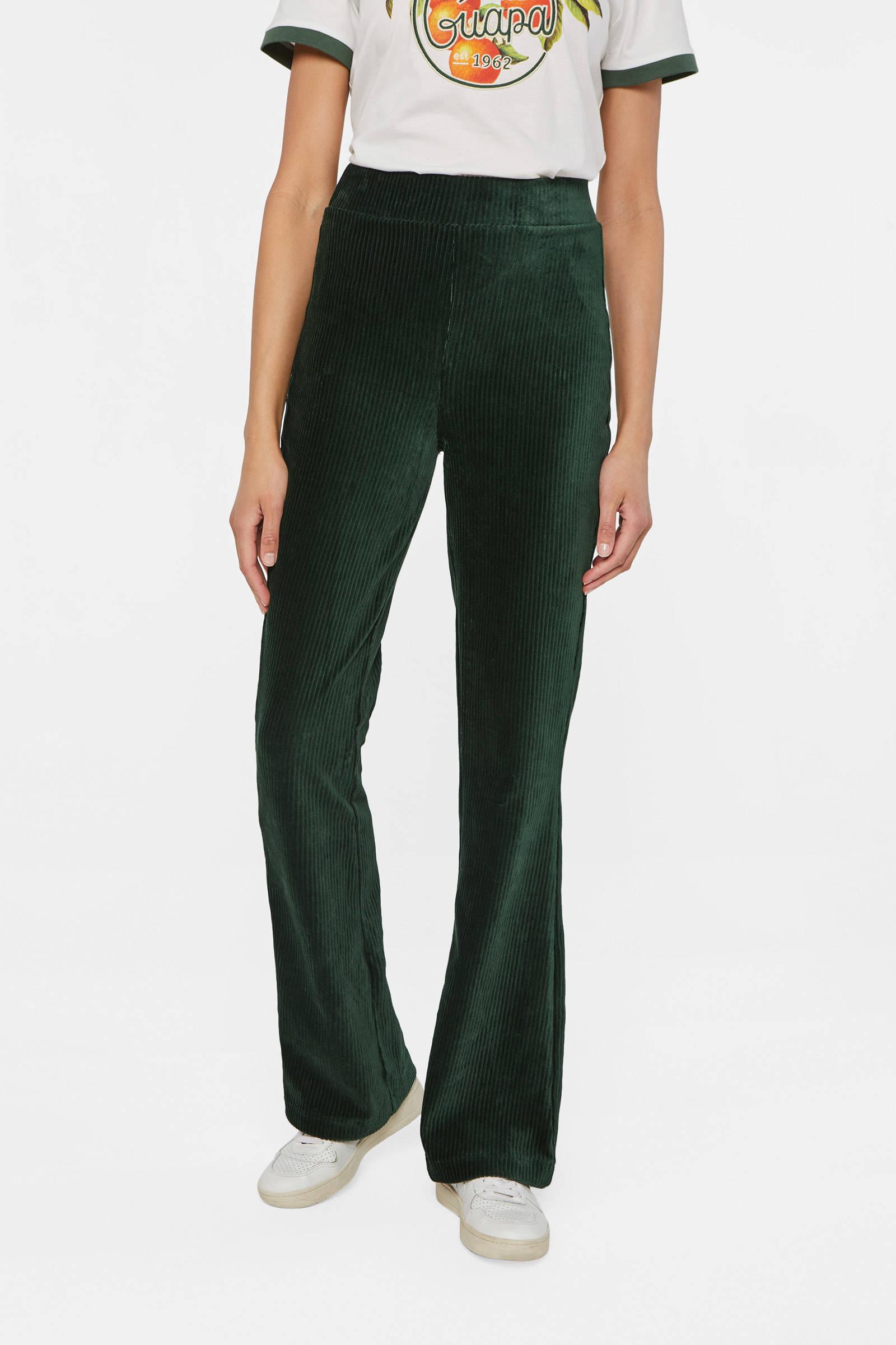 WE Fashion flared broek cilantro   wehkamp