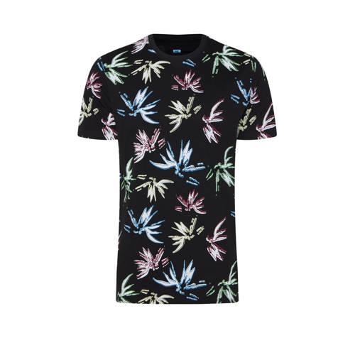 WE Fashion T-shirt met all over print zwart