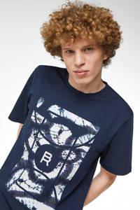 WE Fashion Blue Ridge T-shirt met printopdruk royal navy, Royal Navy