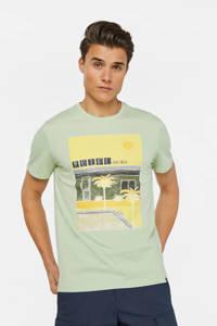 WE Fashion T-shirt met printopdruk lichtgroen/geel, Lichtgroen/geel