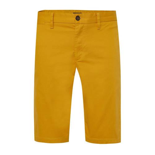 WE Fashion regular fit bermuda honey mustard