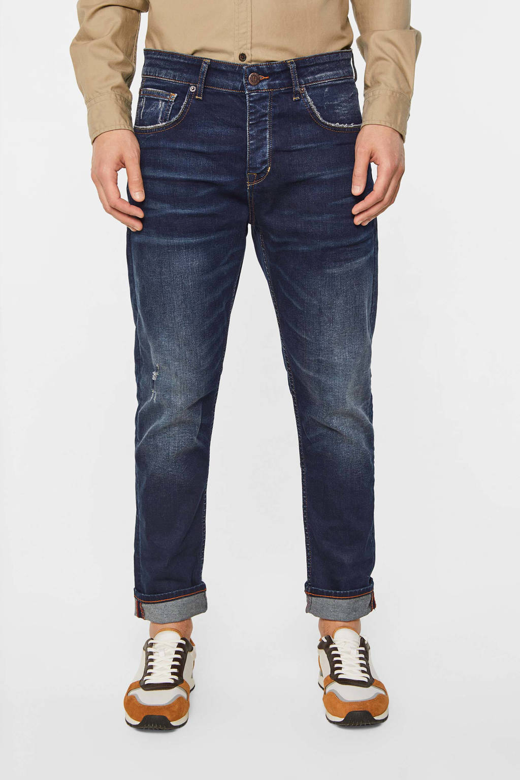 WE Fashion Blue Ridge loose fit jeans dirty denim, Dirty denim
