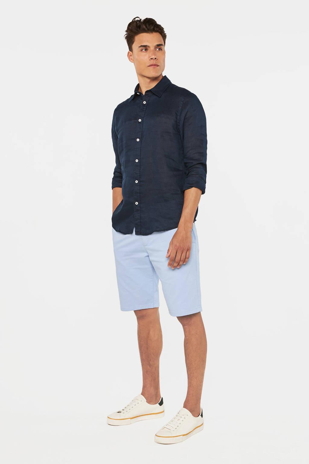 WE Fashion regular fit bermuda lichtblauw, Lichtblauw