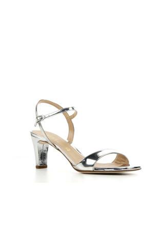 Mechi  leren sandalettes zilver