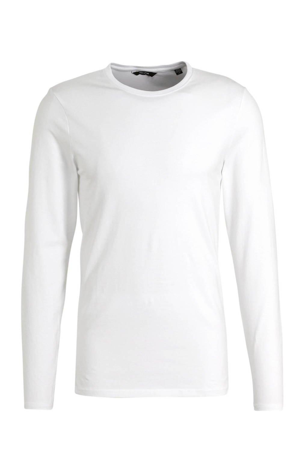 ONLY & SONS T-shirt - (set van 2), Wit