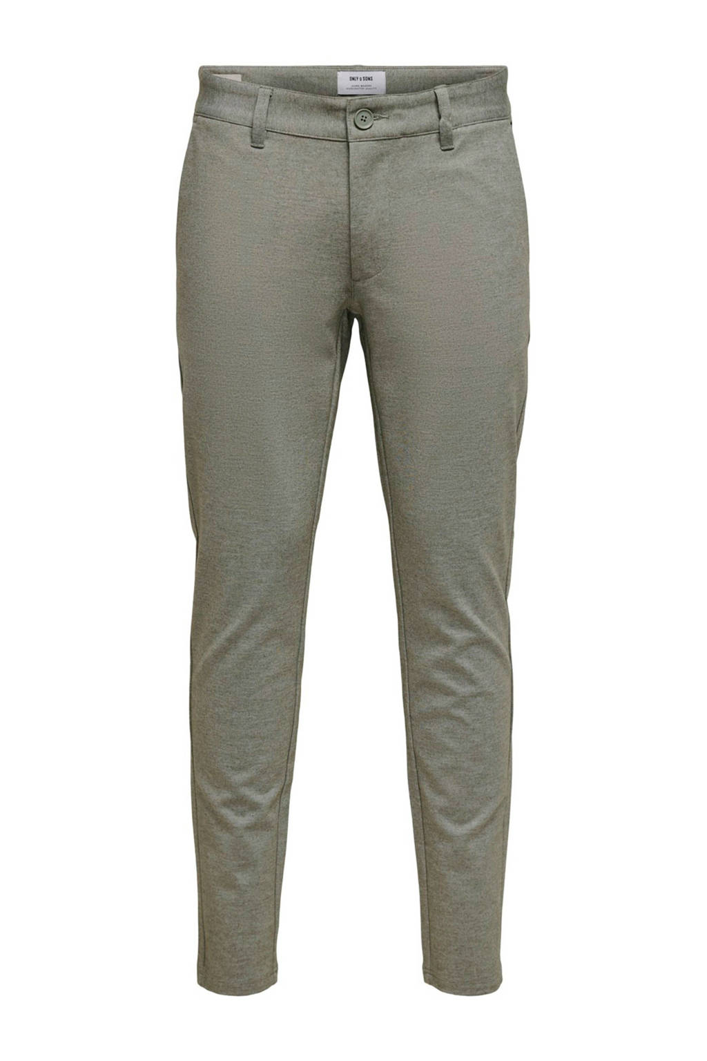 ONLY & SONS slim fit chino groen, Groen