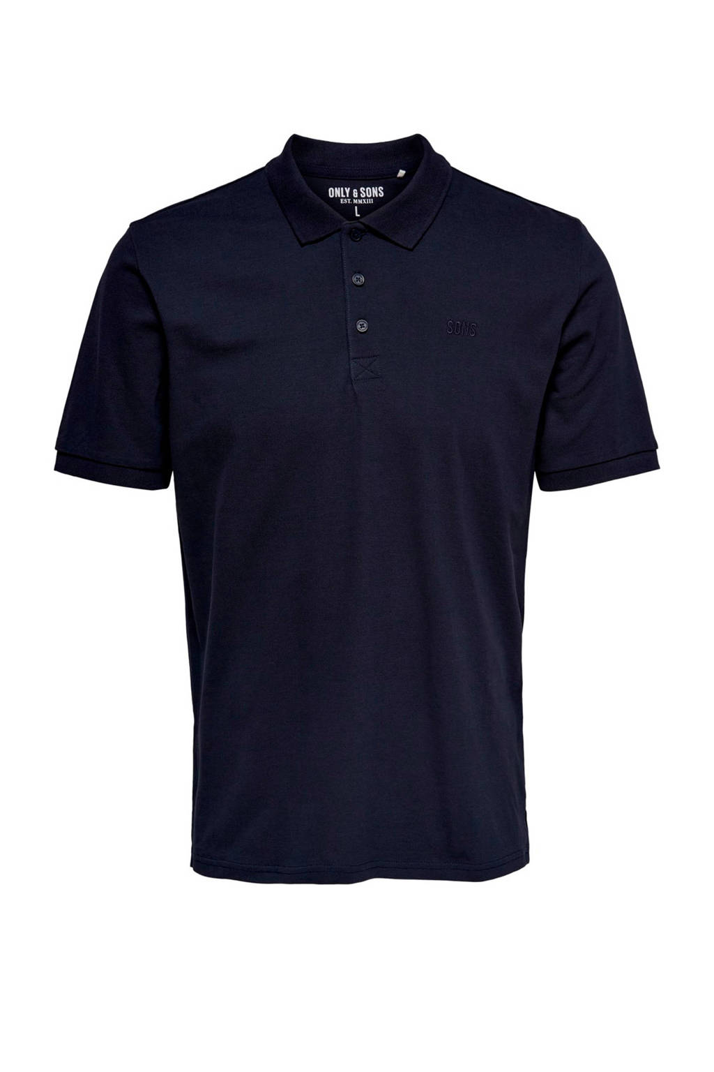 ONLY & SONS regular fit polo donkerblauw, Donkerblauw