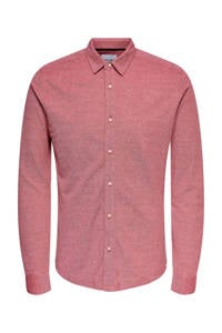 ONLY & SONS regular fit overhemd rood, Rood