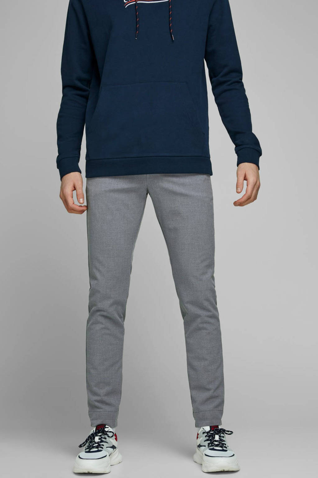 JACK & JONES JEANS INTELLIGENCE slim fit pantalon Marco grijsblauw, Grijsblauw