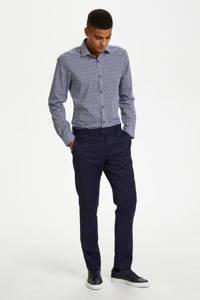 Matinique slim fit overhemd met all over print blauw, Blauw