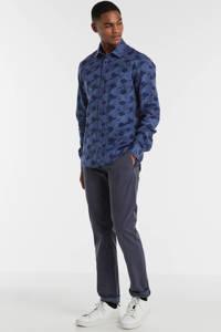 Matinique regular fit overhemd met all over print blauw, Blauw