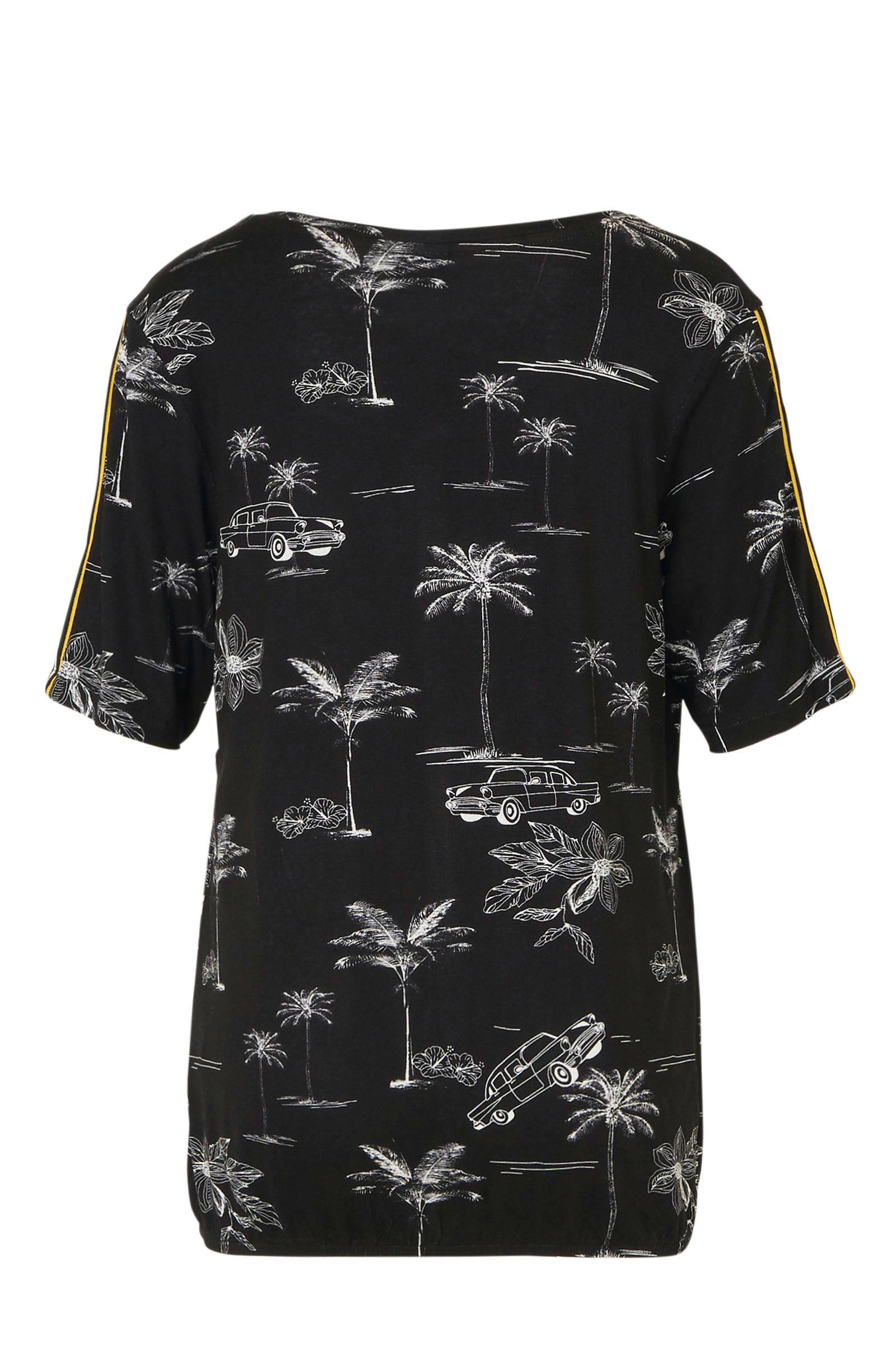 CHOISE top top met all over print zwart