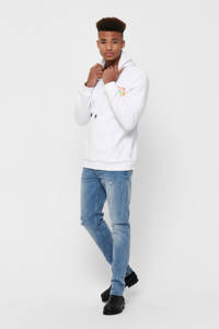 ONLY & SONS hoodie met logo wit, Wit