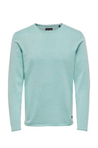 ONLY & SONS gemêleerde trui turquoise, Turquoise