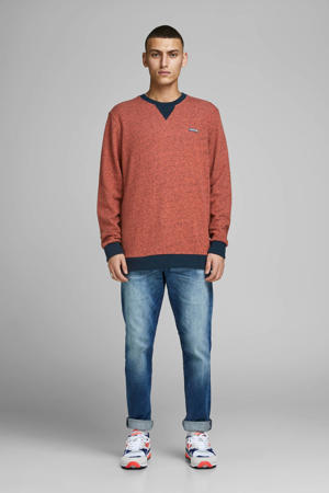 sweater met logo oranje