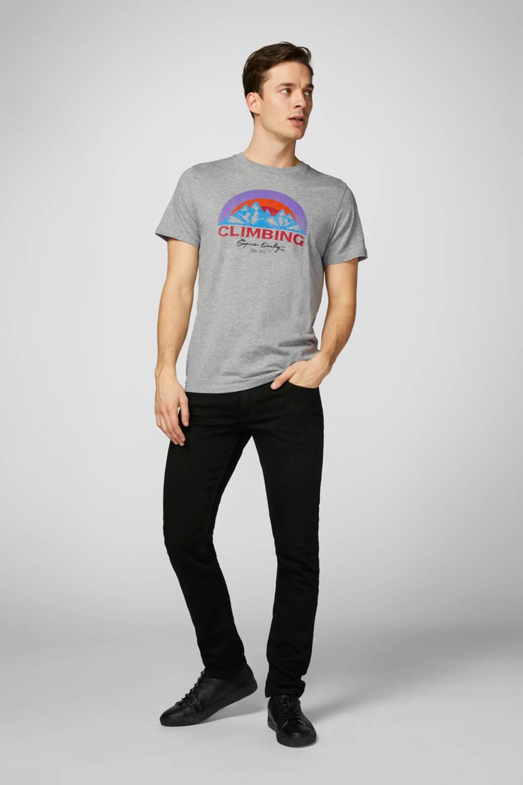 PRODUKT T-shirt met printopdruk grijs, Grijs
